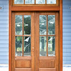 Mahogany door and trim Kelly stained