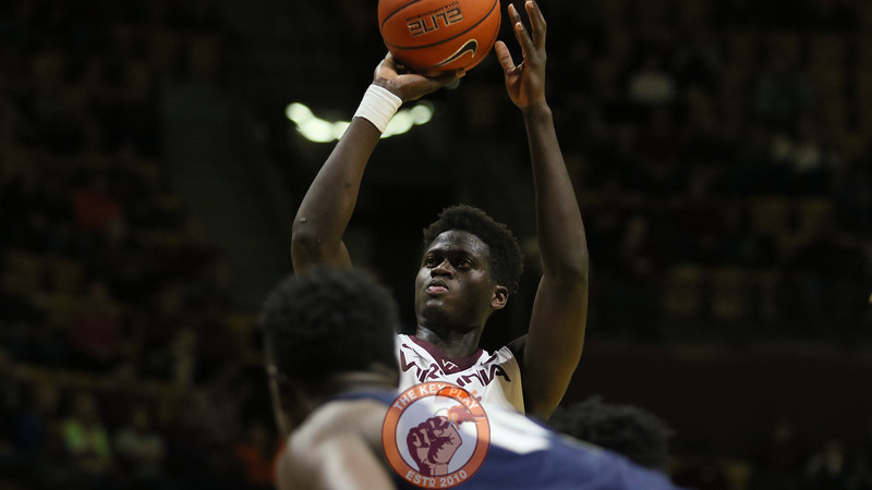 Khadim Sy attempts a free throw in the first half. (Mark Umansky/TheKeyPlay.com)