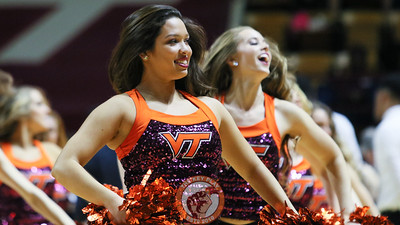 The Virginia Tech High Techs perform during a media timeout. (Mark Umansky/TheKeyPlay.com)