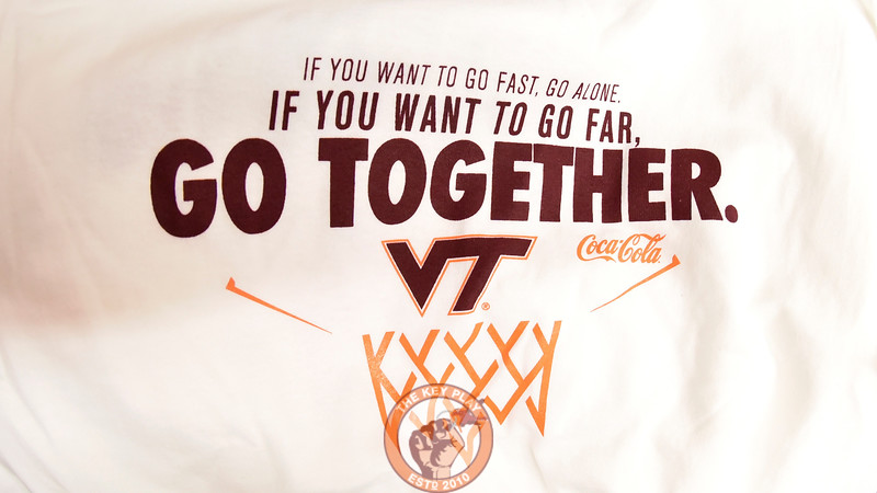 """A detailed view of the one of Buzz Williams' trademark """"quote shirts"""" being handed out to students and fans.  (Michael Shroyer/TheKeyPlay.com)"""