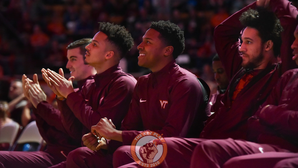 Seth Alen, Zach LeDay and Devin Wilson look on during the NCAA Tournament watch party. (Michael Shroyer/TheKeyPlay.com)