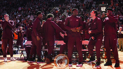The anticipation in the building was soon lifted after the Hokies bid was announced less than 5 minutes into the selection show. (Michael Shroyer/TheKeyPlay.com)