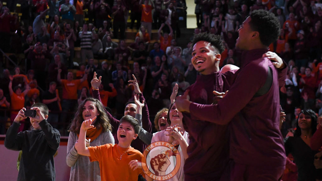 Seth Allen and Zach LeDay dance following the selection announcement. (Michael Shroyer/TheKeyPlay.com)