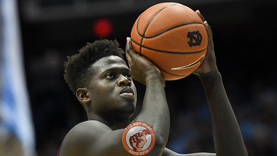 Virginia Tech Hokies forward Khadim Sy (2) attempts a free throw. (Michael Shroyer/ TheKeyPlay.com)