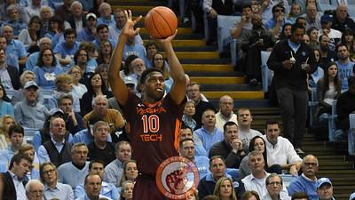 Virginia Tech Hokies guard Justin Bibbs (10) attempts a three pointer. (Michael Shroyer/ TheKeyPlay.com)