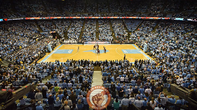 The Virginia Tech Hokies and North Carolina Tar Heels tip off in a mostly full Dean Smith Center in Chapel Hill, N.C.. (Michael Shroyer/ TheKeyPlay.com)
