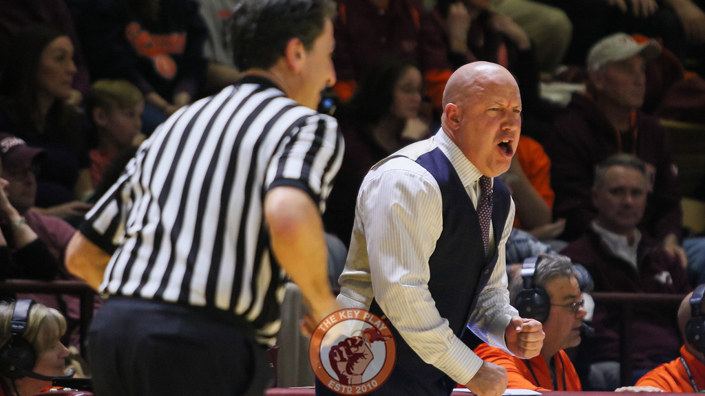 Head coach Buzz Williams shouts at his players to get back on defense in the second half. (Mark Umansky/TheKeyPlay.com)