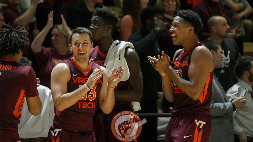 Zach Leday and Matt Galloway react as the first overtime ends after the jump ball. (Mark Umansky/TheKeyPlay.com)