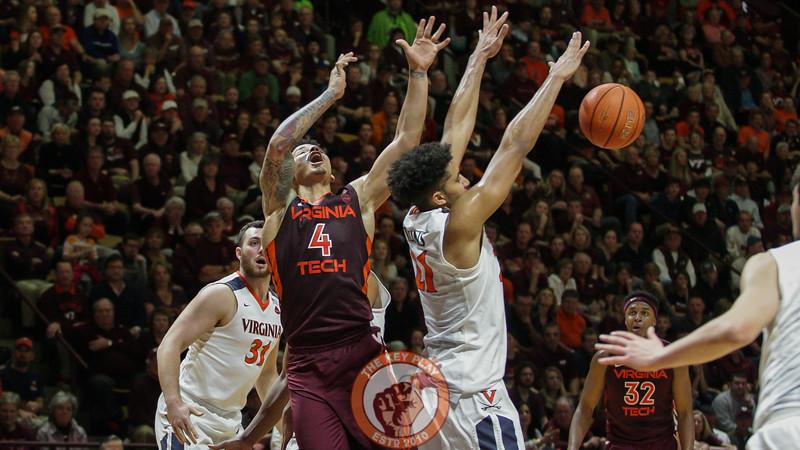 Seth Allen is fouled on a drive towards the basket. (Mark Umansky/TheKeyPlay.com)