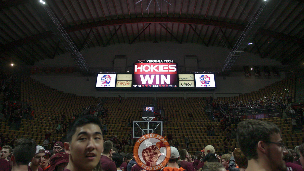 Cassell's scoreboards show the final result of the game as students start to file out of the arena. (Mark Umansky/TheKeyPlay.com)