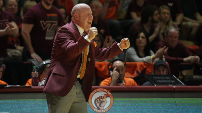 Head coach Buzz Williams shouts instructions to his players as they get back on defense. (Mark Umansky/TheKeyPlay.com)