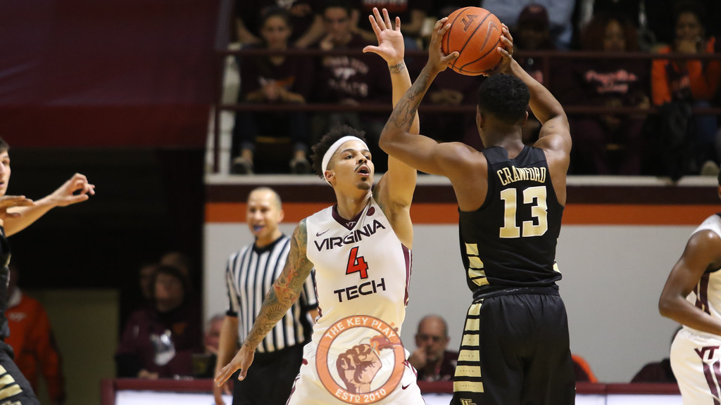 Seth Allen gets set on defense in the first half. (Mark Umansky/TheKeyPlay.com)