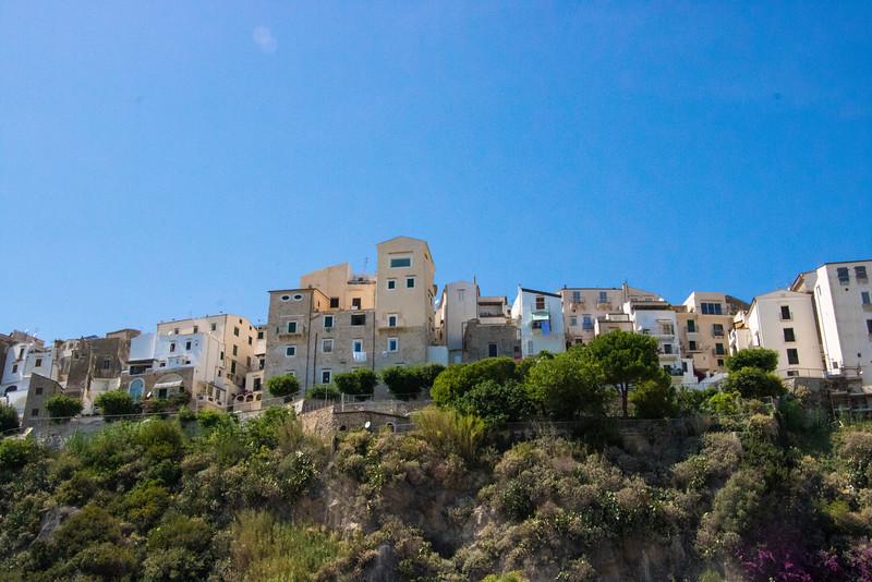 Town of Sperlonga from the Beach