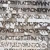 Inscription outside Amphitheatre in Ostia Antica