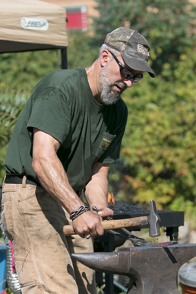 The 16th Annual Fitchburg Blacksmith Art and Renaissance Festival was held Saturday, Sept. 29, 2019 at Riverfront Park in Fitchburg. David Polcari a blacksmith from Groveland MA participated in this years event. SENTINEL & ENTERPRISE/JOHN LOVE