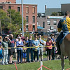 The 16th Annual Fitchburg Blacksmith Art and Renaissance Festival was held Saturday, Sept. 29, 2019 at Riverfront Park in Fitchburg. Cristian Lett of New Salem with the Iron Clad Jousting playing Sr. Cristoffe Von Stuben chats with the crowd during his performance at the festival. SENTINEL & ENTERPRISE/JOHN LOVE