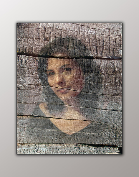 Portrait on Wood