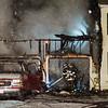 Crews battle a three-alarm fire at 17 Birchwood Terrace in Ashburnham on Tuesday evening. SENTINEL & ENTERPRISE / Ashley Green