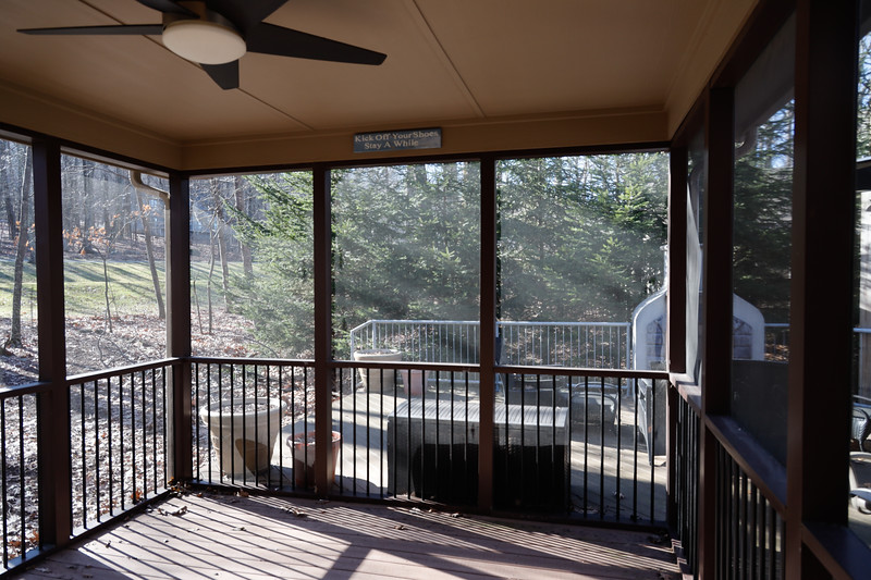 ~ 90° pano covered porch.