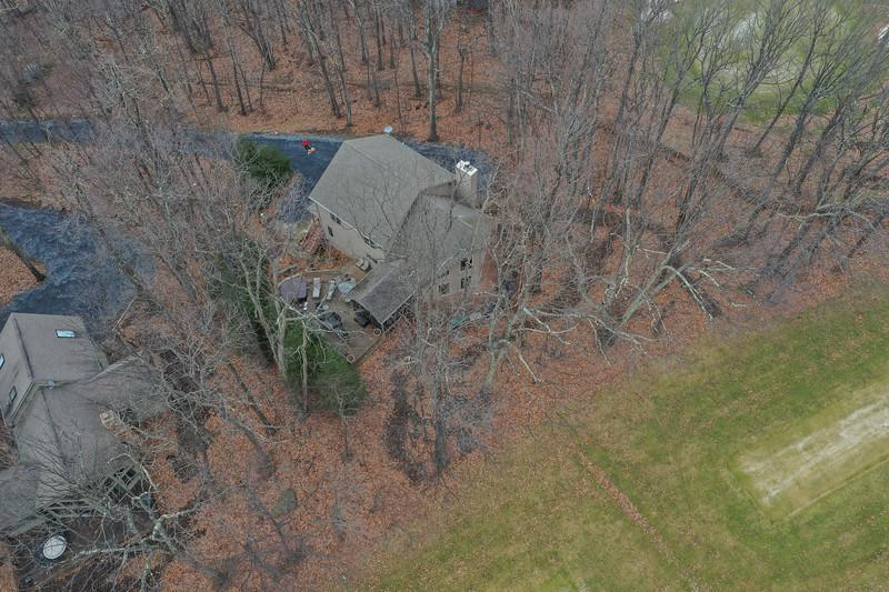 House faces golf course.