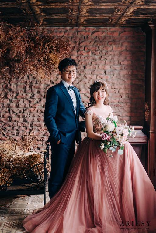 禮服出租,新莊自助婚紗,手工婚紗,婚紗包套,藕紫色素紗晚禮服,優雅公主風白紗,長袖蕾絲微透膚白紗