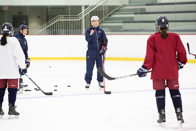 Olympian Meghan Duggan girls hockey clinic