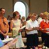 Guests filled the chapel for the concert of sacred music at 4 p.m.