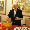 Sister Joanella Whaley serves punch during the reception