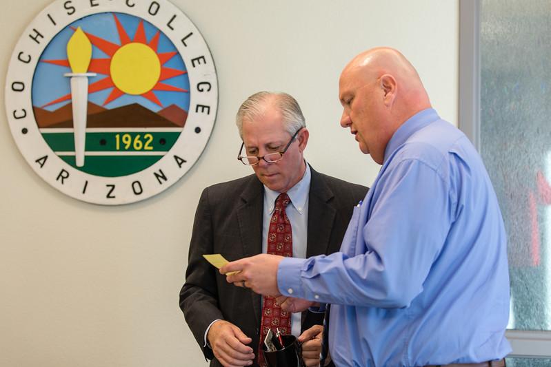 Dr. Robbins visits UA South (Cochise County)