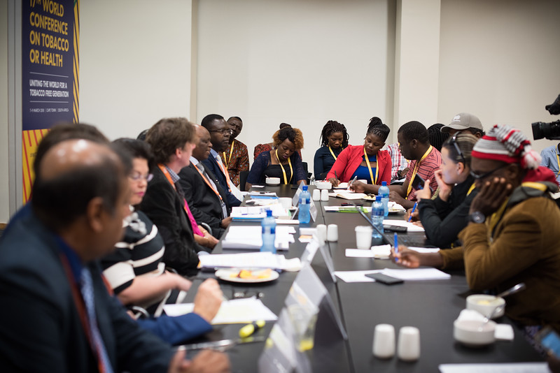 17th World Conference on Tobacco or Health (WCTOH), Cape Town, South Africa, organised by the International Union Against Tuberculosis and Lung Disease.<br /> <br /> Photo shows: Media Breakfast Briefing<br /> WHO – leading the global response to the tobacco epidemic: tackling new<br /> challenges in tobacco regulation and control<br /> <br /> Photo©Marcus Rose/The Union