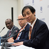 17th World Conference on Tobacco or Health (WCTOH), Cape Town, South Africa, organised by the International Union Against Tuberculosis and Lung Disease.<br /> <br /> Photo shows: Official Press Conference <br /> <br /> Smoking and communicable diseases<br /> <br /> Professor Lekan Ayo-Yusuf, WCTOH Scientific chair<br /> M Parascandola, National Cancer Institute, Tobacco Control Research Branch, Rockville, MD, USA<br /> Y Lin, International Union Against Tuberculosis and Lung Disease (The Union), China<br /> <br /> Photo©Marcus Rose/The Union