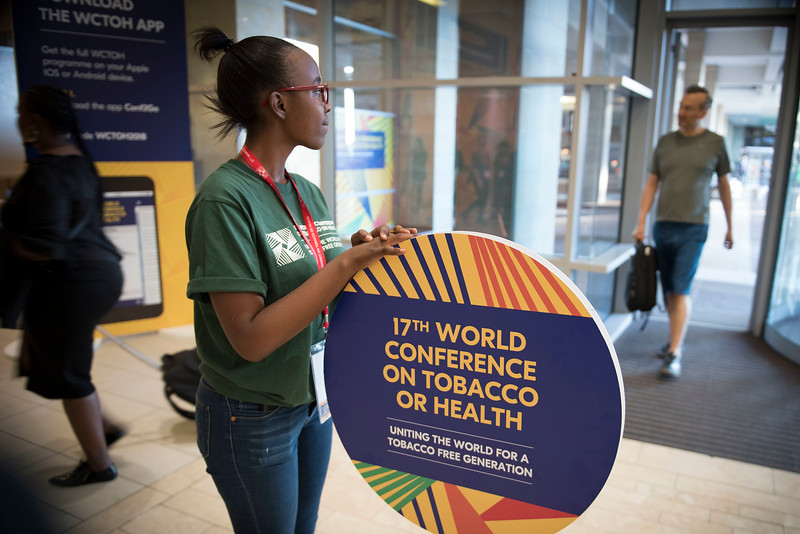 17th World Conference on Tobacco or Health (WCTOH), Cape Town, South Africa, organised by the International Union Against Tuberculosis and Lung Disease.<br /> <br /> Photo shows: Delegates arrive for registration.<br /> <br /> <br /> Photo©Marcus Rose/The Union