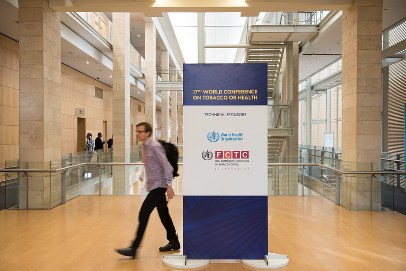 17th World Conference on Tobacco or Health (WCTOH), Cape Town, South Africa, organised by the International Union Against Tuberculosis and Lung Disease.<br /> <br /> Photo shows: Sponsor's Signage<br /> <br /> Photo©Marcus Rose/The Union