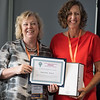 17th World Conference on Tobacco or Health (WCTOH), Cape Town, South Africa, organised by the International Union Against Tuberculosis and Lung Disease.<br /> <br /> International Network of Women Against Tobacco: Gender Front and Centre-planning for Gender in Tobacco Control.<br /> <br /> Photo shows: Life Time Achievement Award presented to Amanda Amos by Marion Hales<br /> <br /> <br /> Photo©Marcus Rose/The Union