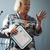 17th World Conference on Tobacco or Health (WCTOH), Cape Town, South Africa, organised by the International Union Against Tuberculosis and Lung Disease.<br /> <br /> International Network of Women Against Tobacco: Gender Front and Centre-planning for Gender in Tobacco Control.<br /> <br /> Photo shows: Life Time Achievement Award presented to Amanda Amos.<br /> <br /> <br /> Photo©Marcus Rose/The Union