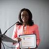 17th World Conference on Tobacco or Health (WCTOH), Cape Town, South Africa, organised by the International Union Against Tuberculosis and Lung Disease.<br /> <br /> International Network of Women Against Tobacco: Gender Front and Centre-planning for Gender in Tobacco Control.<br /> <br /> Photo shows: Achievement Award presented to Bontle Mbongwi (Botswana).<br /> <br /> Photo©Marcus Rose/The Union