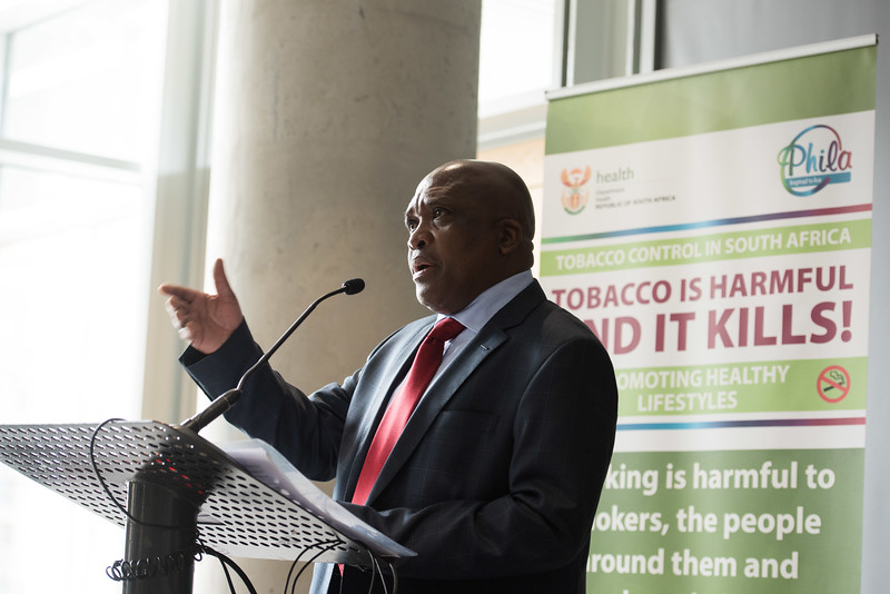 17th World Conference on Tobacco or Health (WCTOH), Cape Town, South Africa, organised by the International Union Against Tuberculosis and Lung Disease.<br /> <br /> Photo shows: Youth Pre-Conference. Speaker Deputy Minister of Health South Africa, Dr Mathume Joseph Phaahla<br /> <br /> Photo©Marcus Rose/The Union