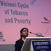 17th World Conference on Tobacco or Health (WCTOH), Cape Town, South Africa, organised by the International Union Against Tuberculosis and Lung Disease.<br /> <br /> Photo shows: Launch of the Tobacco Atlas, 6th edition & Luther Terry Awards. Speaker: Nigar Nigaris<br /> <br /> Photo©Marcus Rose/The Union