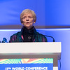 17th World Conference on Tobacco or Health (WCTOH), Cape Town, South Africa, organised by the International Union Against Tuberculosis and Lung Disease.<br /> <br /> Photo shows: Plenary 2 - Women, Development, and Tobacco Control.<br /> L-R: Dr Judith Mackay, Senior Advisor, Vital Strategies (Hong Kong). <br /> <br /> Photo©Marcus Rose/The Union