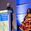 17th World Conference on Tobacco or Health (WCTOH), Cape Town, South Africa, organised by the International Union Against Tuberculosis and Lung Disease.<br /> <br /> Photo shows: Plenary 2 - Women, Development, and Tobacco Control.<br /> L-R: Dr Judith Mackay, Senior Advisor, Vital Strategies (Hong Kong) & Chair: Flavia Senkubuge, South Africa<br /> <br /> Photo©Marcus Rose/The Union