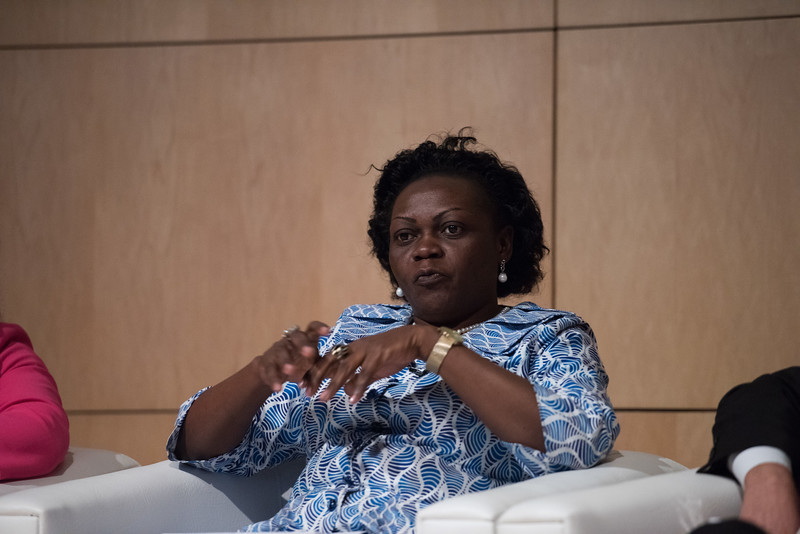 17th World Conference on Tobacco or Health (WCTOH), Cape Town, South Africa, organised by the International Union Against Tuberculosis and Lung Disease.<br /> <br /> Photo shows: Ministerial Forum. Hon. Sarah Opendi Achieng, MoH Uganda.<br /> <br /> Photo©Marcus Rose/The Union