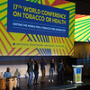 17th World Conference on Tobacco or Health (WCTOH), Cape Town, South Africa, organised by the International Union Against Tuberculosis and Lung Disease.<br /> <br /> <br /> Photo shows: Plenary 1: Priorities for Tomorrow's Tobacco Control Agenda and Sustainable Development. Musical Performance<br /> <br /> Photo©Marcus Rose/The Union