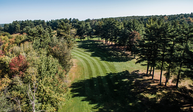 "Westminster Country Club<br /> Hole 14<br /> ""The 14th hole is a 537-yard dogleg left with OB left the whole way.<br /> The average player will hit a second shot to the flat 150-yard mark.<br /> From here, you will have a blind shot into a two-tiered green with a<br /> lot of different breaks depending on your angle."" -- -- Michael<br /> Leblanc, Director of Golf Operations Westminster Country Club<br /> SENTINEL & ENTERPRISE / Ashley Green"