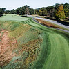 """Red Tail Golf Club<br /> """"Hole 10 is a 560-yard, slight dogleg left par 5 with a bit of a<br /> forced carry off the tee and out of bounds down the right side of the<br /> fairway. The OB stretches from the tee for roughly 280 yards. After<br /> 280, the right side becomes an environmentally sensitive hazard, which<br /> restricts player entry and requires a ball drop. The left side is tree<br /> lined with an 80-yard long bunker catching many second shots."""" --<br /> Chris Kasheta, Red Tail Golf Club<br /> SENTINEL & ENTERPRISE / Ashley Green"""
