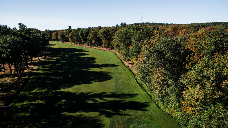 "Oak Hill Country Club<br /> No. 16<br /> ""An uphill par 4 that plays longer than its yardage. A good drive will<br /> leave you with about 150-160 yard shot over two bunkers that are 40<br /> yards from the green. This green slopes severely from back to front<br /> and is guarded by bunkers left and right.  You must keep your ball<br /> below the pin on this green as putting downhill could end with your<br /> ball trickling off the front of it."" -- Bucky Buchanan, Head Golf Pro<br /> at Oak Hill Country Club<br /> SENTINEL & ENTERPRISE / Ashley Green"