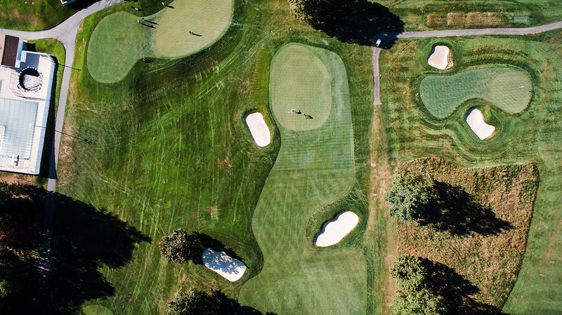 """Oak Hill Country Club<br /> Hole 4<br />  """"A good drive on this hole will leave you a second shot of 170-210<br /> yards to the green. If you cannot reach this green in two shots then<br /> you must also avoid the two fairway bunkers that are about 40 yards<br /> from the green. The fairway extends beyond the trap on the right all<br /> the way through to the top of the green and can be used as a bail out<br /> area that will still allow you to get up and down. The green is two<br /> tiered and slopes from back to front.  It is the narrowest green on<br /> the front side.  A 4 is a great score on this hole."""" -- Bucky<br /> Buchanan, Head Golf Pro at Oak Hill Country Club<br /> SENTINEL & ENTERPRISE / Ashley Green"""