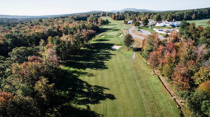 "Oak Hill Country Club<br /> No. 18<br /> Description: 446 Yard Par 4<br /> ""No shortcuts here. This hole is one of the toughest finishing holes<br /> that you will ever play anywhere. This uphill par 4 plays longer than<br /> the yardage would indicate and with a good tee shot you will still<br /> have 180-220 yards left to an elevated green. If you do not carry the<br /> ball to the green, the ball will roll back down into a swale in front<br /> of the green leaving you with a very difficult up-and-down for par.<br /> Once on the green, be careful not to putt it off the green if the pin<br /> is toward the front portion of the green, very slick downhill putts.<br /> You will win many a match here with a par 4."" -- Bucky Buchanan, Head<br /> Golf Pro at Oak Hill Country Club<br /> SENTINEL & ENTERPRISE / Ashley Green"