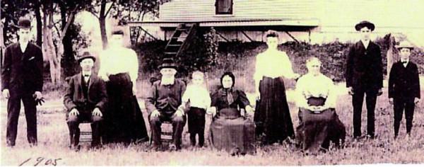 Pierre Lanoue Family, Ste Sabine, QC. 1905