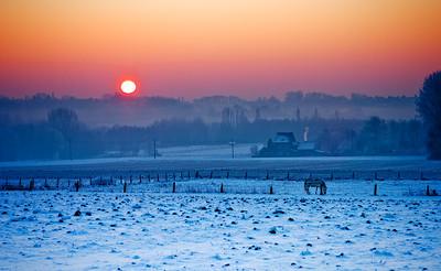 Winterlandschap, Asse-ter-Heide