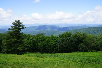 Skyline Drive, the feature route through Shenandoah National Park,  up the spine of the Appalachian Mountains in western VA